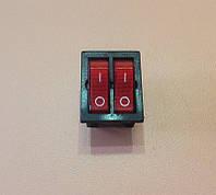 Кнопка вкл / выкл ДВОЙНАЯ модель S13113 / 16А / 250V / T125 (со светодиодом) КРАСНАЯ    SETEL, Турция, фото 1