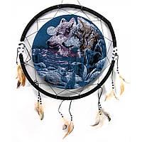 Панно настенное круглое Волки