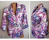 Женский пиджак цветы. Летние женские пиджаки.