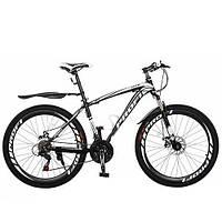 """Спортивный велосипед Profi 26"""" (E2617X1-2), черно-белый"""