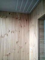 """Внутренняя обшивка балкона от компании """"Окна Маркет"""""""