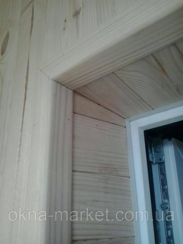 """Внутренняя обшивка балкона деревянной вагонкой от """"Окна Маркет"""""""