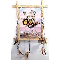 Панно декоративное Девушка и рысь