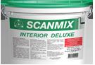 Фарба INTERIOR DELUXE 2,5л Scanmix 205-123 | краска, Водно-дисперсійна фарба для внутрішніх робіт, витримує вологе прибирання і повторне фарбування