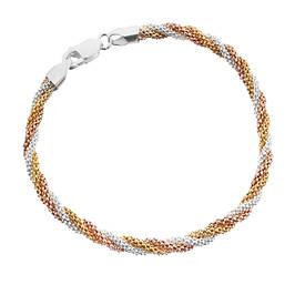 Серебряные браслеты с позолотой