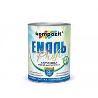 Емаль акрилова PROFI Біла /глянцева/ 0.8 л Kompozit // Эмаль краска акриловая фарба
