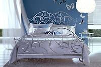 Кованая кровать К033 PAPILLON Реплика. Без изножья, с изножьем. Полуторная, двухспальная. Для девушки.