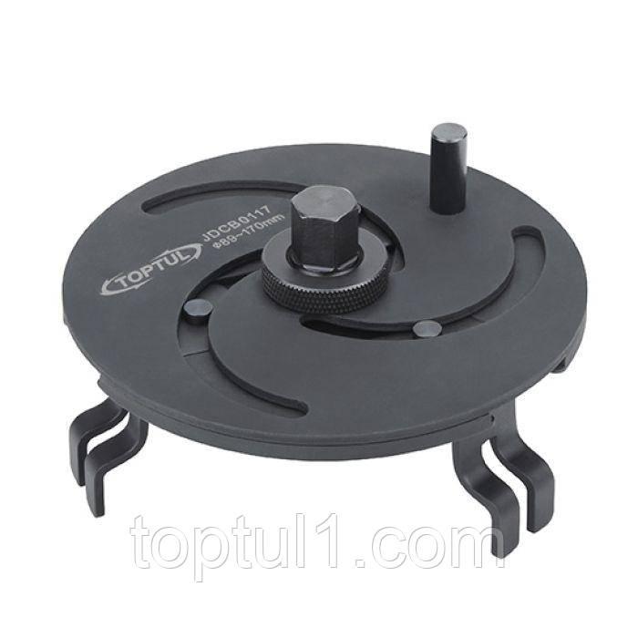 Съемник крышки топливного насоса универсальный 3-х лапый TOPTUL JDCB0117  89-170 мм