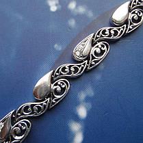Срібний жіночий браслет з фіанітами, 200мм, фото 2
