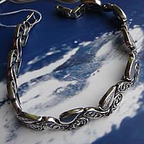Срібний жіночий браслет з фіанітами, 200мм, фото 3