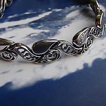 Cеребряный женский браслет с фианитами, 190мм, фото 3