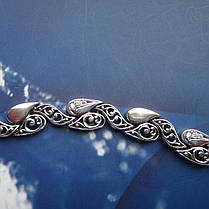 Cеребряный женский браслет с фианитами, 190мм, фото 2