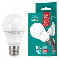 Светодиодная лампа TITANUM A60 10W E27 4100K 220V (TL-A60-10274)