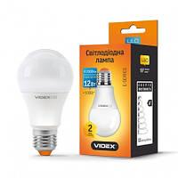 Светодиодная LED лампа VIDEX A60e 12W E27 3000K 220V (VL-A60e-12273)