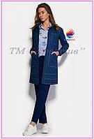 Удлиненный джинсовый пиджак (при заказе от 50 шт.)