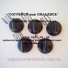 """Набор ручек для плиты """"Гефест"""" ножка 1,8 см (GEFEST) (5 ручек)(чёрные). код сайта: 7007"""