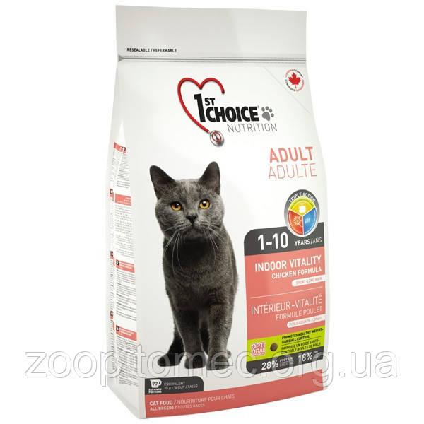 1st CHOICE (Фест Чойс) КУРИЦА ВИТАЛИТИ корм для домашних кошек 10 кг