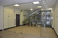 Перегородки из цельного стекла