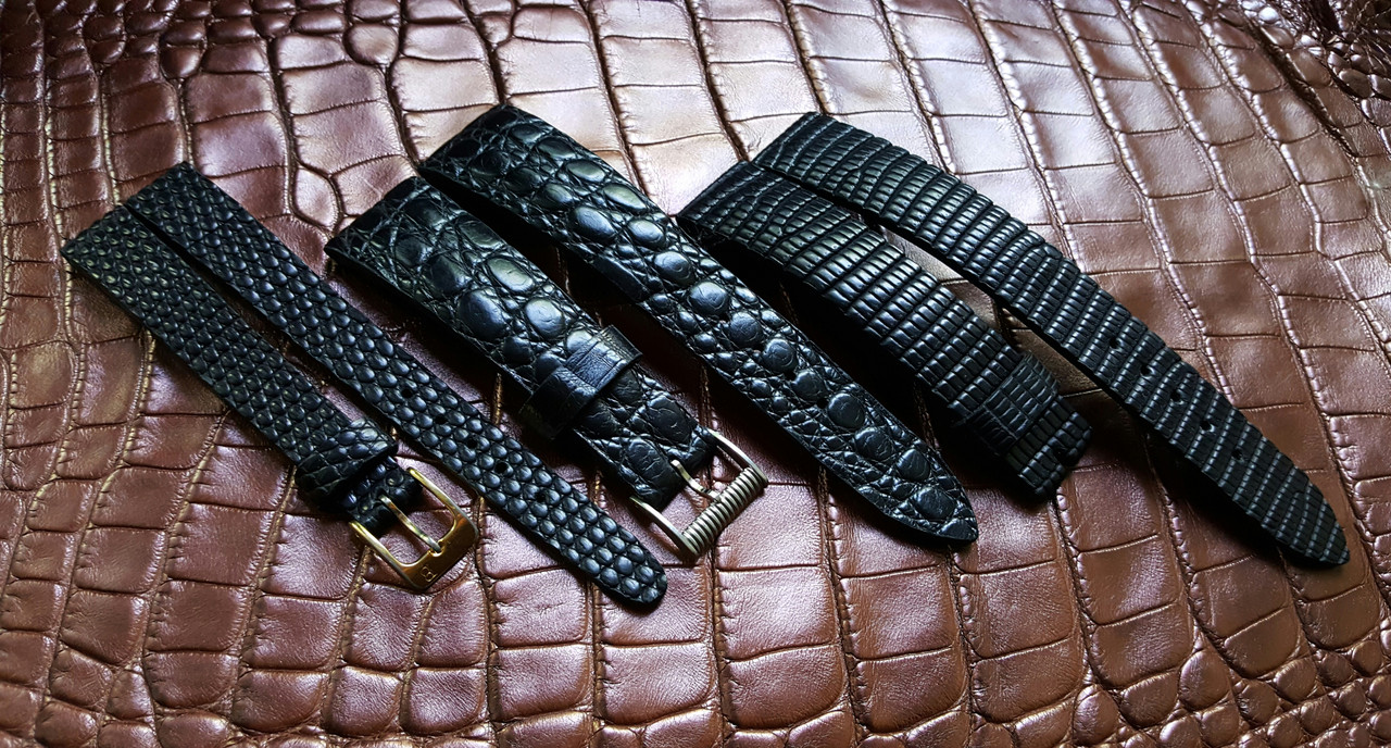 Ремешок для часов из кожи крокодила