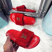 Красные тапочки Louis Vuitton/ шлепанцы очень мягкие, фото 1