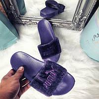 Фиолетовые тапочки Puma/шлепанцы очень мягкие, фото 1