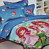 Детское постельное белье полуторное Земляничка комплект подростковый