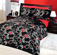 Постель турецкой торговой марки Altinbasak евро сатин красно-черный