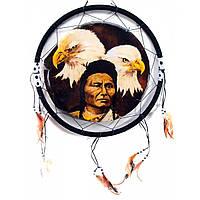 Панно в спальню Индеец и два орла
