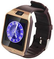 Смарт часы - GSM телефон DZ09 (SIM, microSD, Bluetooth, шагомер, камера) Gold