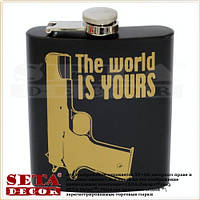 "Фляга ""The world is Yours"" 210 мл, металл"