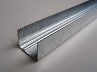 """UD27"""" L=3м (0,40мм)  профиль для гипсокартона направляющий потолочный, стеновой"""