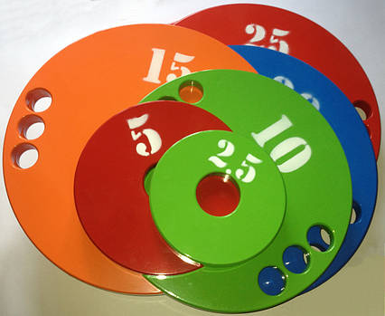Набор дисков (блинов) для штанги 1,25-2,5-5-10-15-20-25 кг (160 кг), фото 2