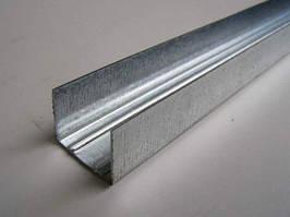 """UD27"""" L=4м (0,55мм) профиль для гипсокартона направляющий потолочный, стеновой"""