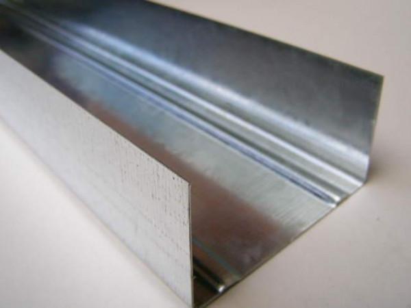 """UW 100"""" L=4м (0,55 мм) профиль для гипсокартона направляющий"""
