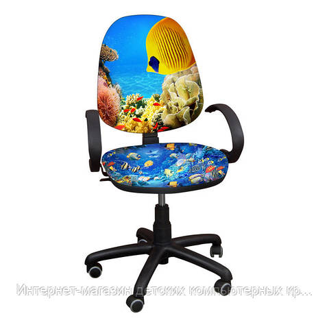 """Детское компьютерное кресло Поло РМ """"Рыбки-3"""""""