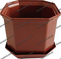 Вазон Дама 18 3,55 л коричневый