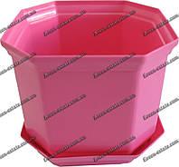 Вазон Дама 18 3,55 л розовый