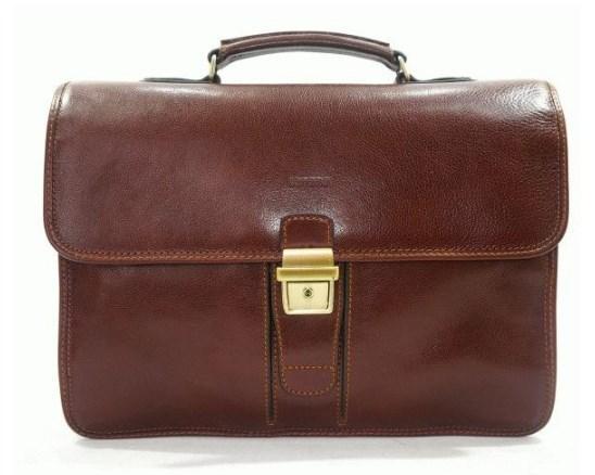 Мужской портфель KATANA Франция из кожи, коричневый K36804-3