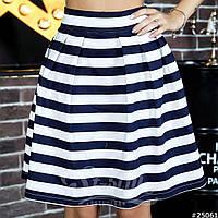 Трендовая летняя юбка полосатый принт