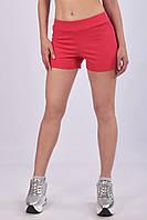 Женские спортивные шорты с завышенной талией из плотного трикотажа двунитка