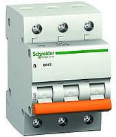Автомат ВА63 3р 10A C Schneider Electric серія Домовик
