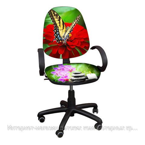 """Детское компьютерное кресло Поло РМ """"Бабочки-2"""""""