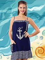 Молодежная  туника Турция 6029 темно-синий