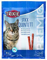 Trixie TX-42725 Premio Stick Quintett 5шт- палочки лосось-форель для кошек