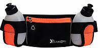 Спортивная сумка-пояс для бега с бутылками Junletu Orange