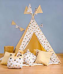 Вигвам- палатка  «Индеец на абрикосовом»