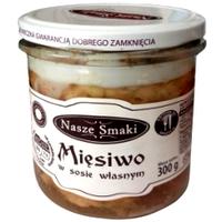 Свинная тушонка в собственном соусе Nasze Smaki Miesiwo w sosie wlasnym 300g