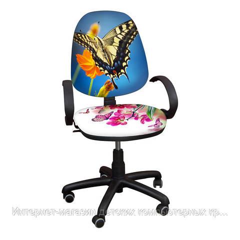 """Детское компьютерное кресло Поло РМ """"Бабочки-15"""""""