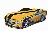 Кровать машина детская Мерседес (желтый)