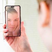 Зеркальный премиум чехол-книжка для Samsung Galaxy J7 2015